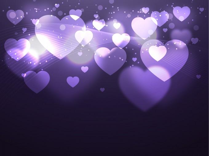 Shiny Hearts PPT Backgrounds