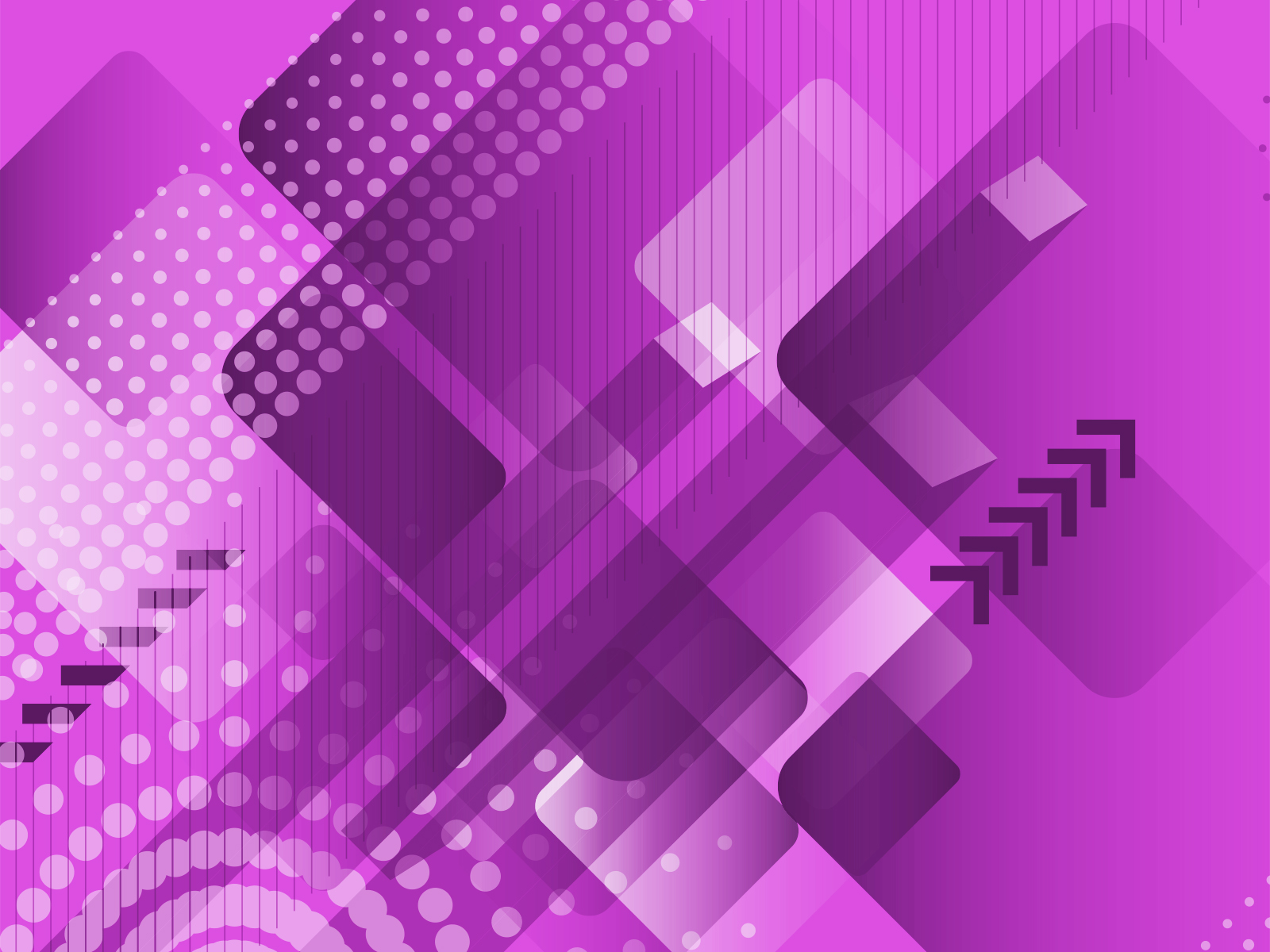 Technological Purple Powepoint Design