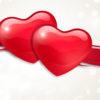 3D Valentine Hearts Powerpoint Design