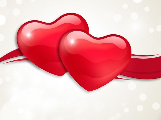 3D Valentine Hearts Design PPT Backgrounds