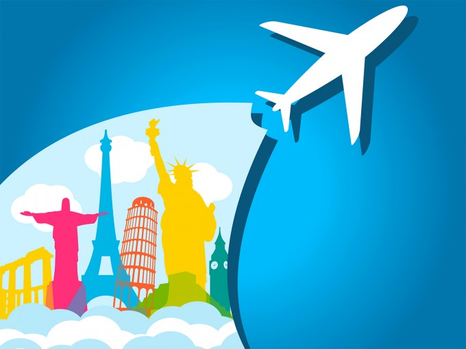 Airplane Holiday PPT Backgrounds