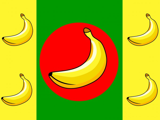 Banana Republic Flag PPT Backgrounds