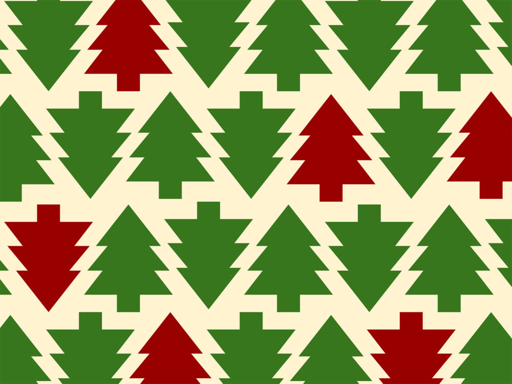 Christmas Tree Pattern Backgrounds