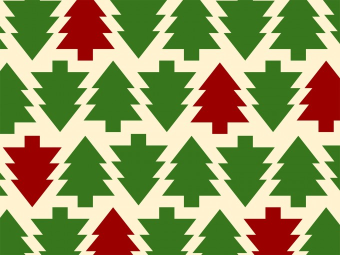 Christmas Tree Pattern PPT Backgrounds