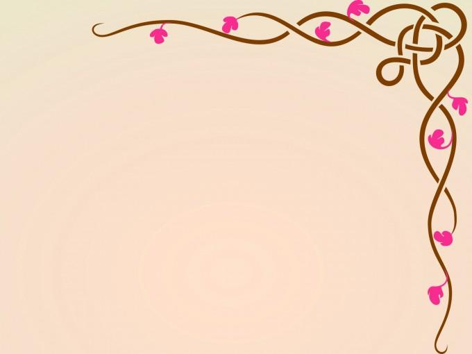 Floral Design Frame PPT Backgrounds