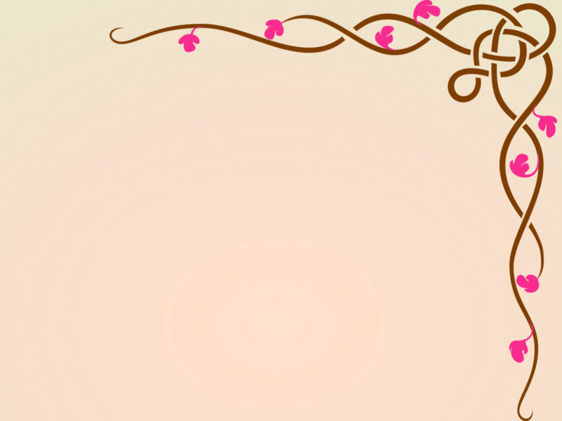 Floral Design Frame Backgrounds PPT