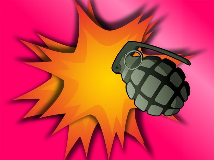 Grenade Explosion PPT Backgrounds
