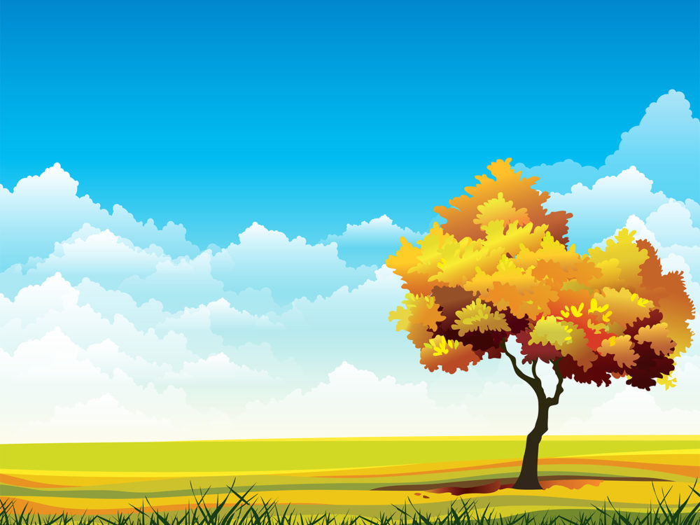 landscape backgrounds blue green nature templates free ppt