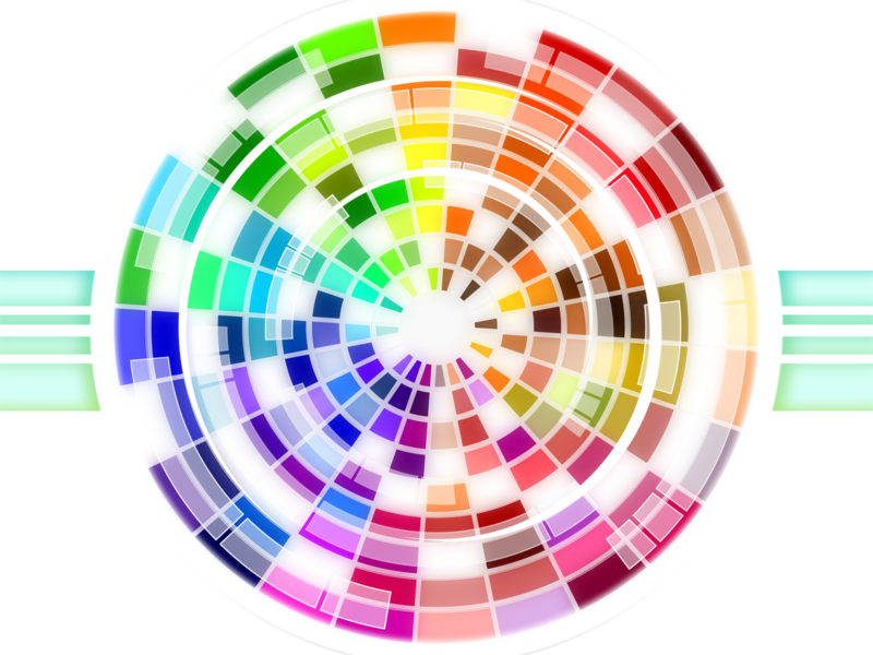 Multicolored Wheel Powerpoint Backgrounds