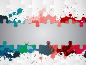 Paint Splatter Puzzle Backgrounds