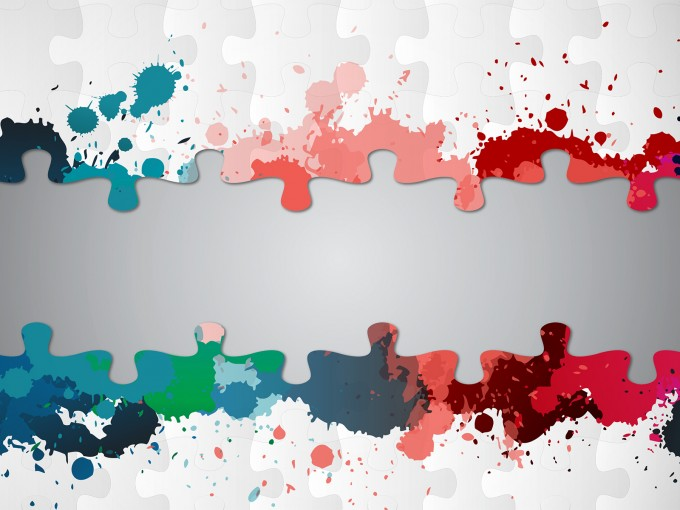 Paint Splatter Puzzle PPT Backgrounds