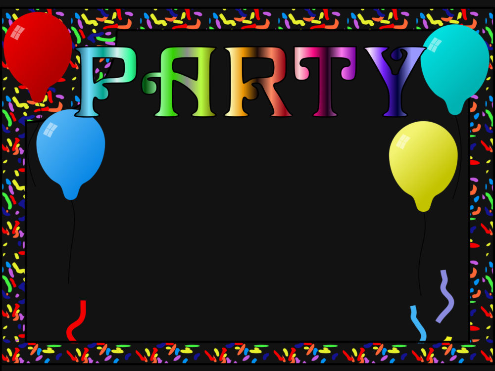 Party Frame Backgrounds - Black, Border & Frames, Holiday, Multi ...
