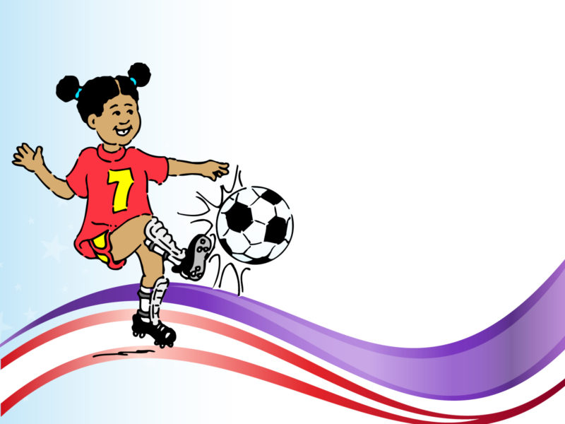 Playing Soccer PPT Backgrounds