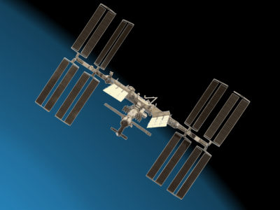 Space Station with Earth Backgrounds