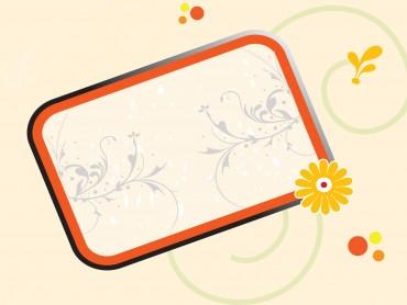 Cool Floral Frame