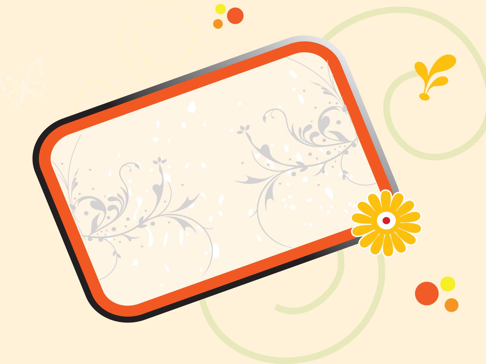 cool floral frame backgrounds border amp frames orange