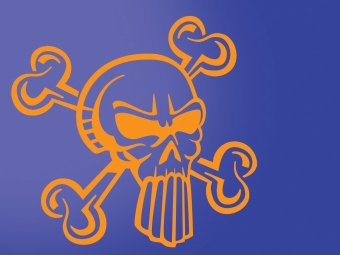 Cool Skull Cartoon PPT Backgrounds