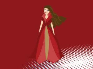 Fashion Lady PPT Backgrounds