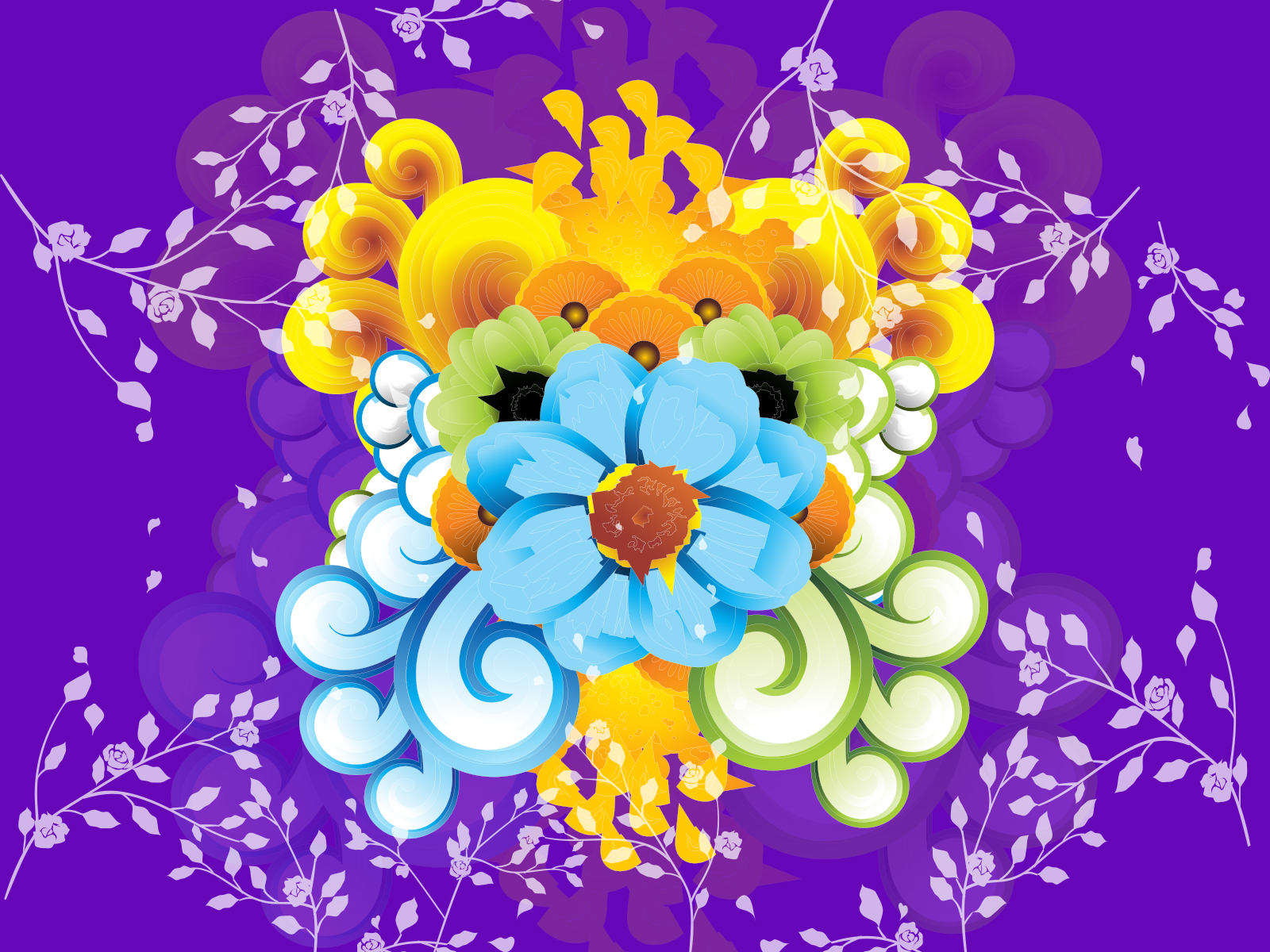 purple flowers backgrounds flowers purple yellow