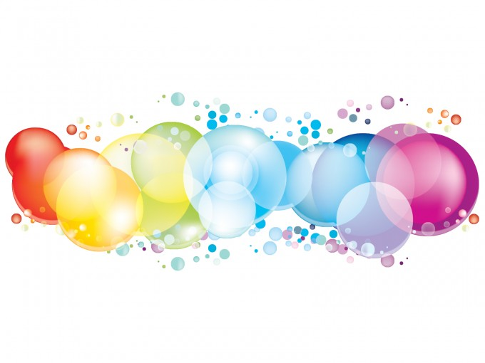 Colorful Circles PPT Backgrounds