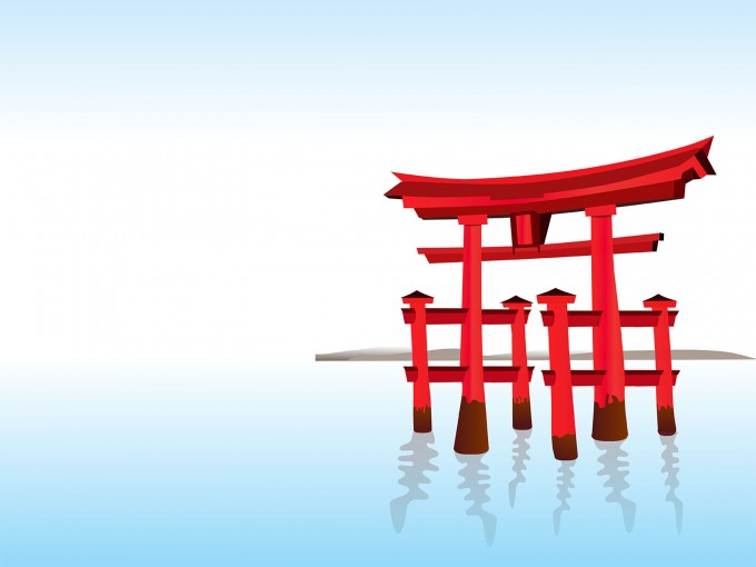 Asian Architecture PPT Backgrounds