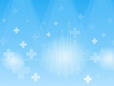 Cardiogram on a blue