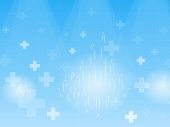 Cardiogram on a blue PPT Backgrounds