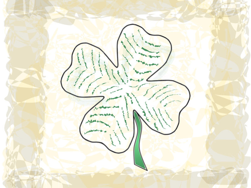Clover flowers PPT Backgrounds