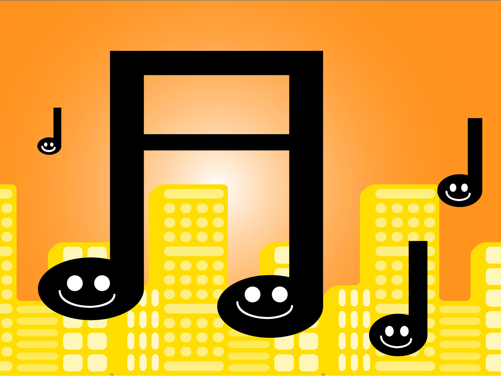 Comic Music Powerpoint Backgrounds