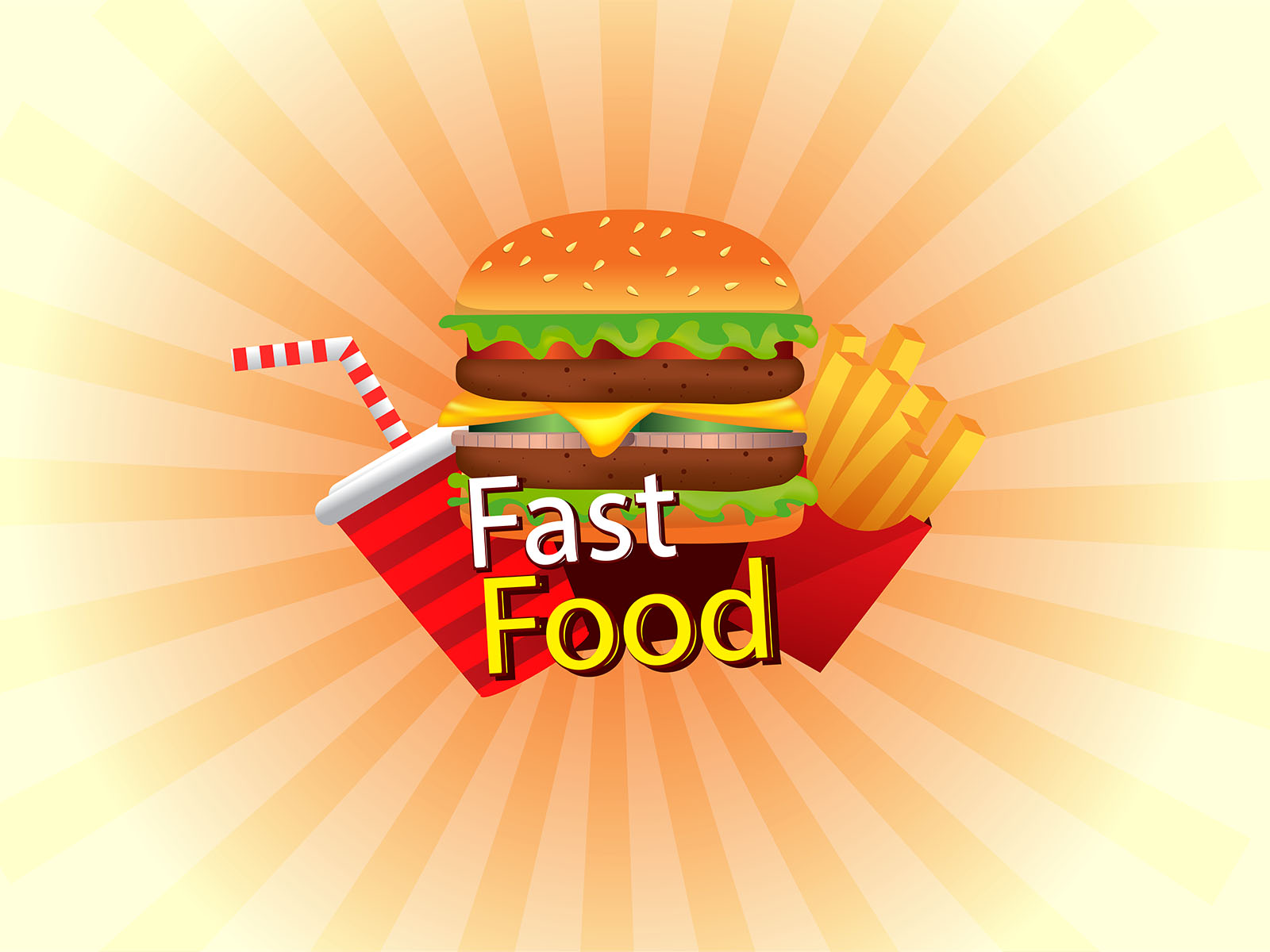 Fast Food Backgrounds Foods Amp Drinks Red White Yellow
