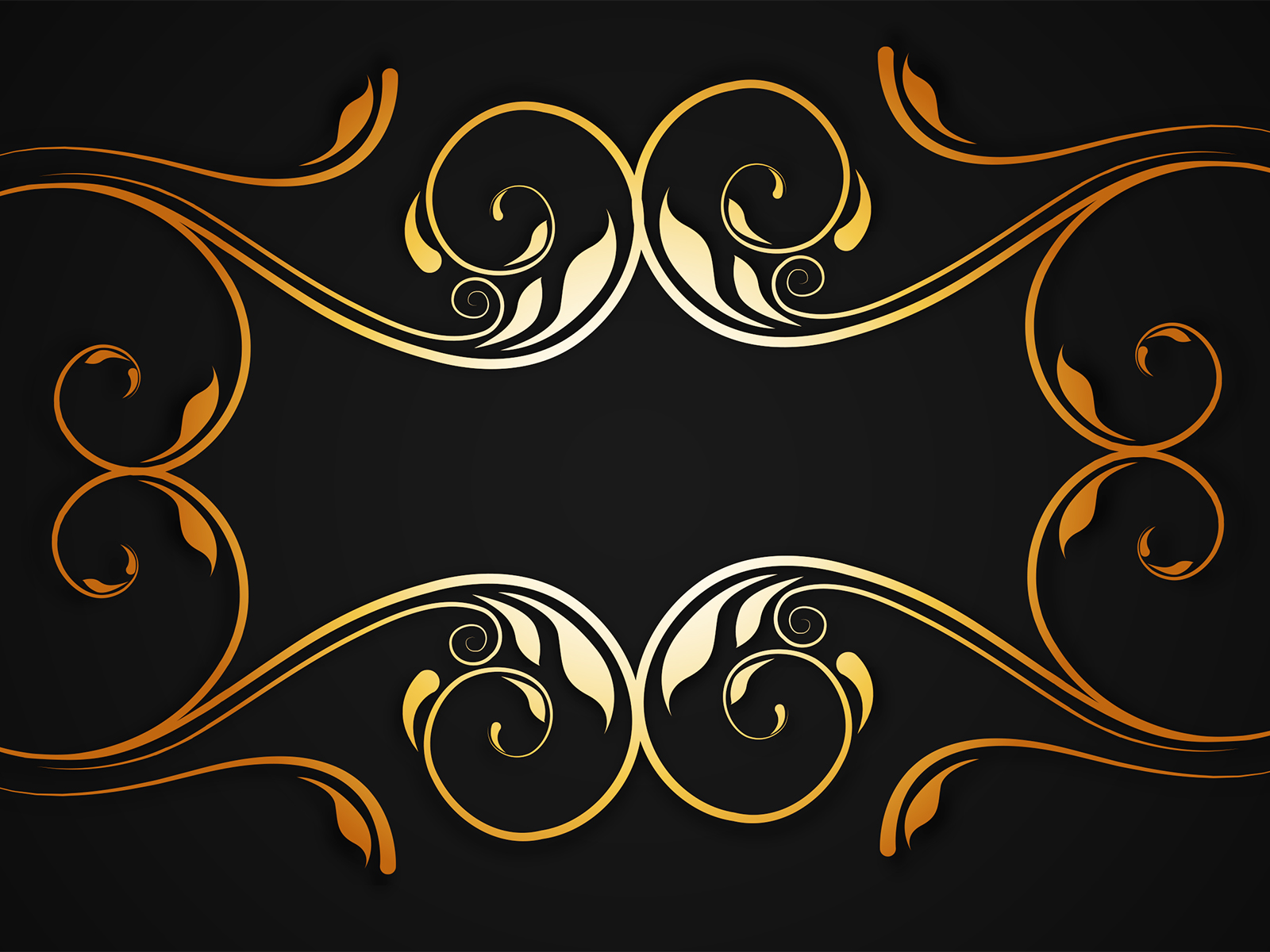Modern Floral Wallpaper Golden Floral Border Backgrounds Black Border Amp Frames