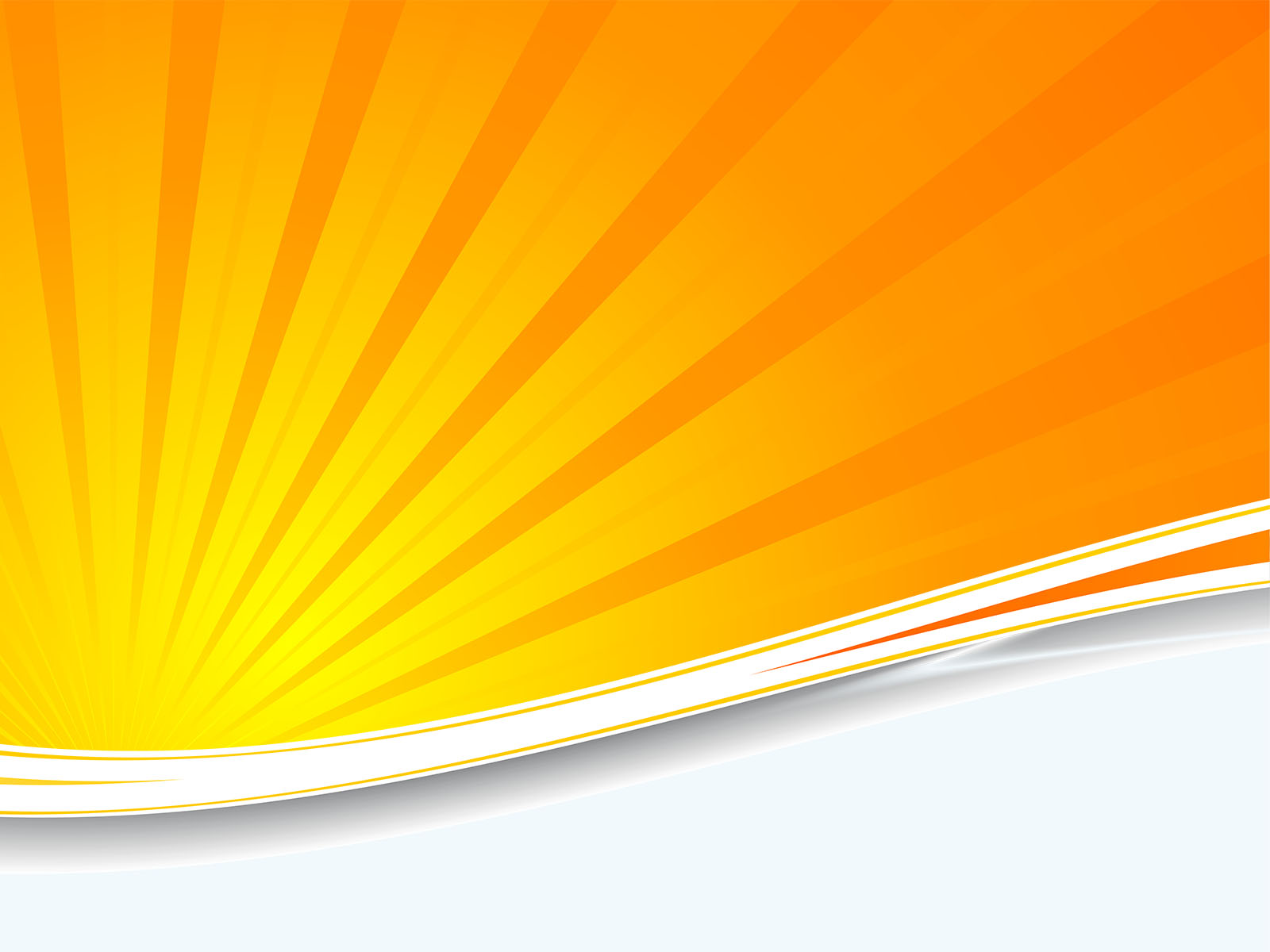 Orange Sunburst Powerpoint Templates