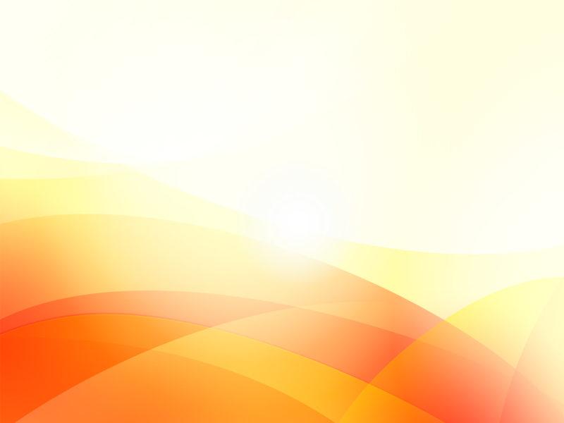 Orange Waves Powerpoint Templates