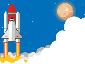Rocket Taking Backgrounds