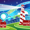 Stylised Lighthouse PPT Backgrounds