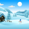 Winter Landscape Powerpoint Backgrounds
