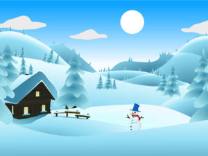 Winter Landscape Powerpoint Backgrounds