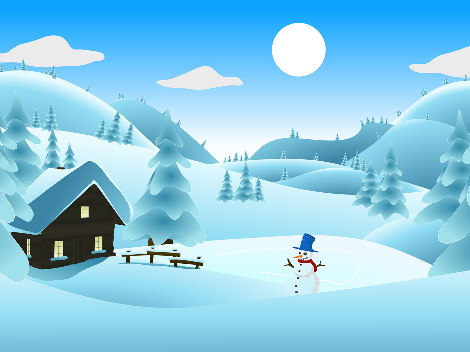 winter landscape ppt backgrounds - powerpoint templates - ppt grounds, Powerpoint templates