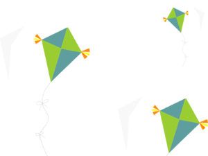Colorful Kite PPT Backgrounds