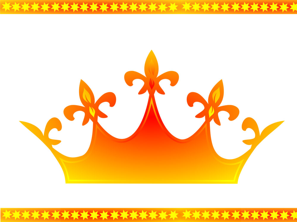Queen Crown Ppt Backgrounds 3d Orange Templates Ppt
