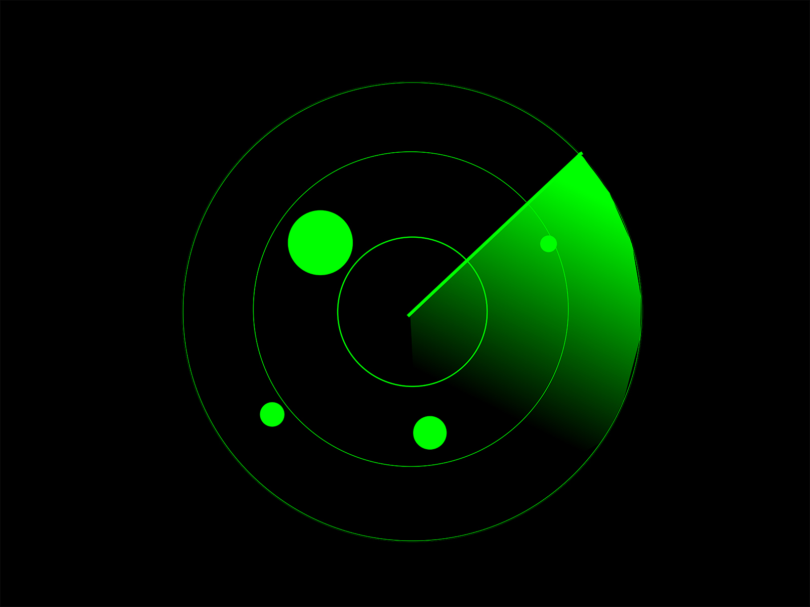 Radar Screen PPT Backgrounds