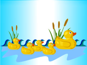Rubber Ducks PPT Backgrounds