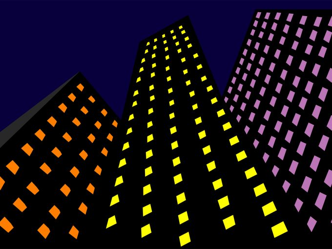 Skyscrapers in the Dark PPT Backgrounds