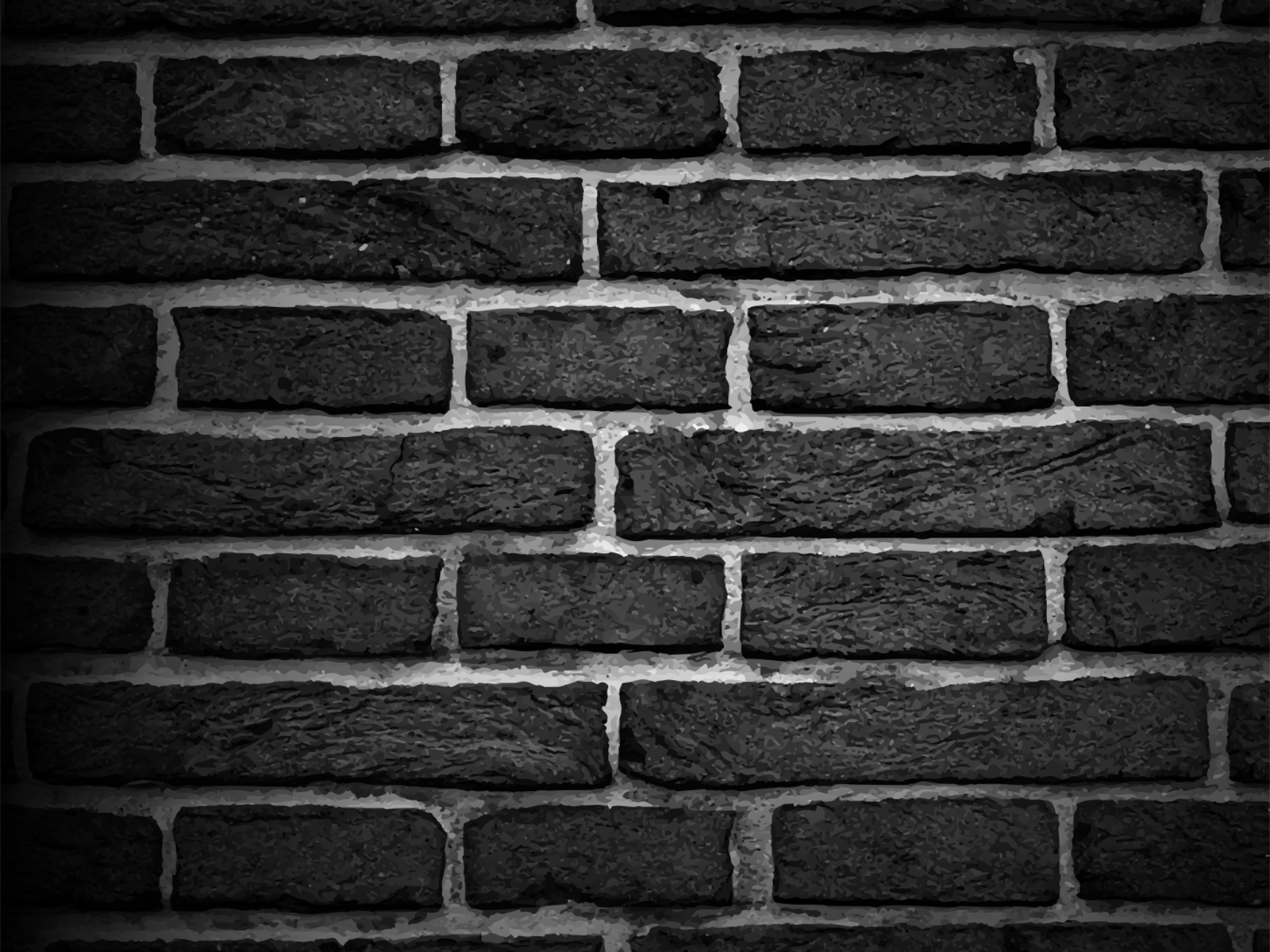 brick texture ppt backgrounds - abstract, black, white templates, Presentation templates