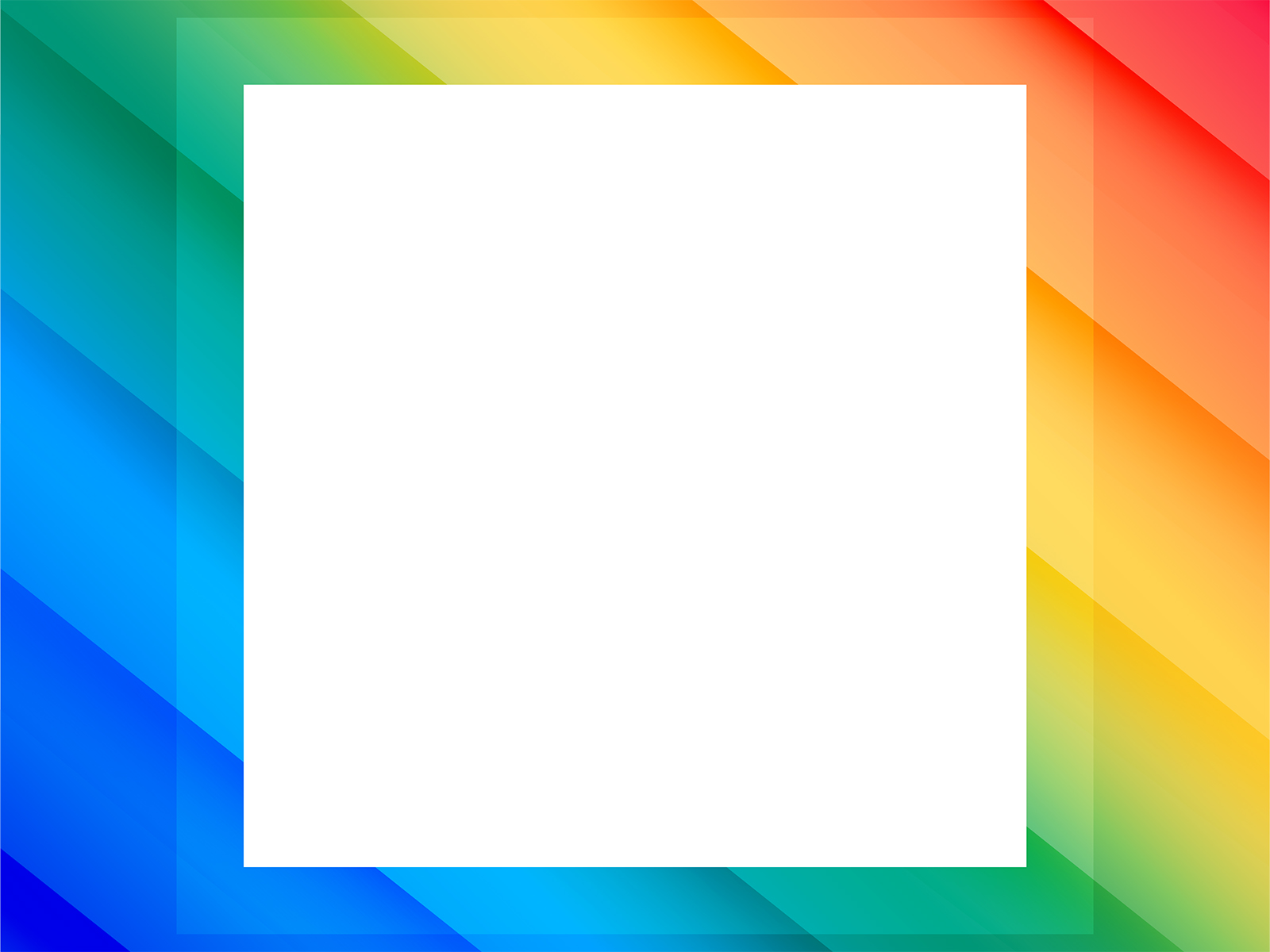 Colorful Border PPT Backgrounds - Border & Frames, Multi