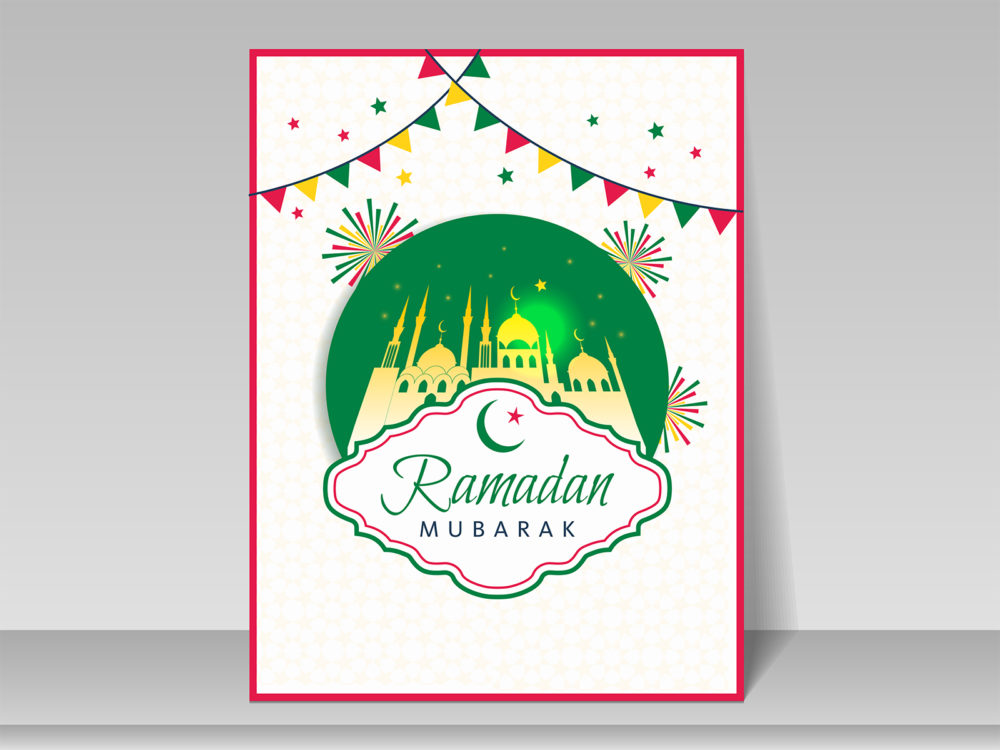 ramadan greeting card ppt backgrounds - religious templates - ppt, Modern powerpoint
