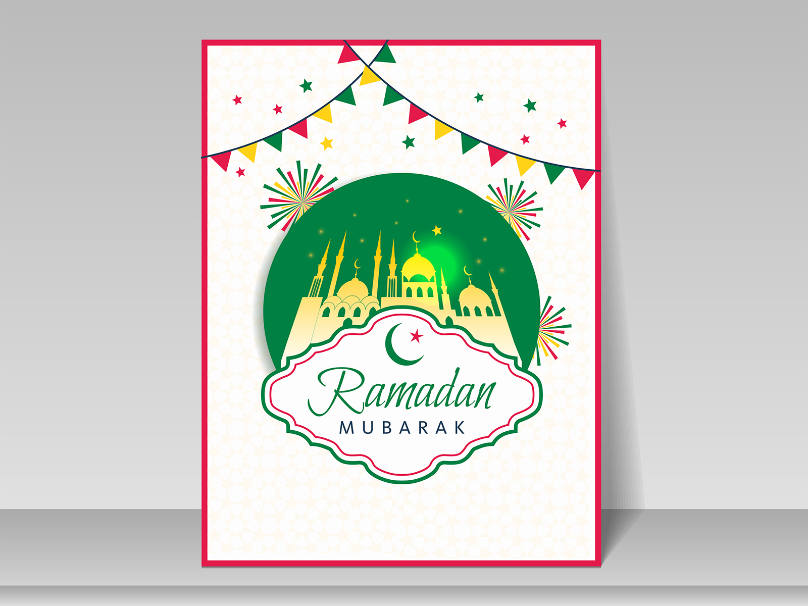 Ramadan Greeting Card Backgrounds Religious Templates Free Ppt