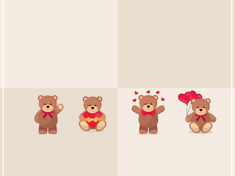 Sweet Bear PPT Backgrounds