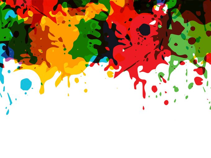 Artistic splashes PPT Backgrounds