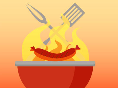 Barbecue grill backgrounds